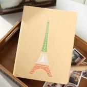 瞭望巴黎牛皮紙鋼圈記事本16K105張活頁本 LB16K14-0536(大號)