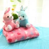 維維熊 嬰兒毛毯(卡通抱毯)純色