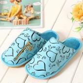 帕希 可放暖寶寶貼棉拖鞋(藍色)260