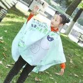 時尚獨立印花輕薄透氣便攜雨衣 連體帶帽雨披斗篷 兒童款 353