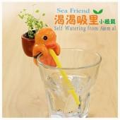 正品  創意迷你動物嘴巴吸水萌寵小盆栽小植栽草娃娃辦公桌面禮品