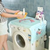 加厚洗衣機罩 布藝冰箱防塵罩 多用蓋巾-升級夾子款 381