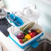 塑料雙層碗架 廚房碗筷碗碟置物架餐具收納架水果蔬菜瀝水架(雙層)