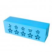花兒朵朵電源線插座電線收納盒 集線盒排插理線盒 繞線器(大號)