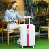 卡通印花行李箱捆綁帶拉桿箱十字行李打包帶灰色插扣(彈力款)294