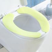 馬桶墊坐墊純色坐便套可水洗家用粘貼式馬桶貼加厚馬桶圈墊三對裝(小號3對裝)