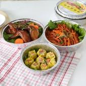 30年老品牌振興 燒烤錫紙盒鋁箔盤廚房烹飪烘焙餐盤燒烤盤加厚錫紙碗圓形鋁箔餐盒(6只裝)YHM6140