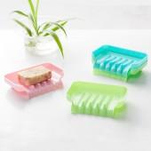 肥皂盒吸盤壁掛式香皂盒瀝水創意衛生間肥皂架免打孔香皂架置物架(單個裝)JY051