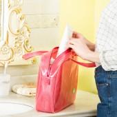 化妝包便捷式透明多功能大容量防水袋旅行包隨身洗漱包手提收納包(綠色小貓標 中號M)272