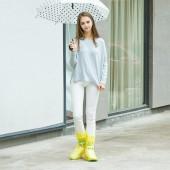 戶外旅游成人雨靴雨天防滑防水加厚高筒雨鞋套 綁帶高幫長款(42-44碼鞋用)大號XXL 199