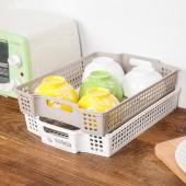 日本進口零食收納籃廚房儲物籃桌面整理收納盒置物籃可疊加收納筐(單個裝)