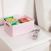 日本進口零食收納籃帶蓋雜物儲物盒廚房桌面整理收納盒置物收納筐 26.4*19.2*12 S(不帶蓋)
