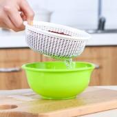 日本進口多功能廚房家用雙層瀝水籃果蔬濾水篩桌面收納籃子水果盆