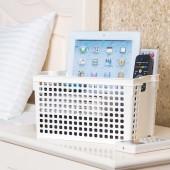 日本進口零食收納籃廚房儲物籃桌面整理收納盒置物籃可疊加收納筐(深寬型)
