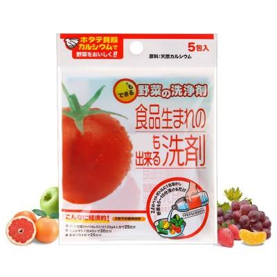 日本進口低泡扇貝蔬菜水果果蔬浸泡清洗劑去除農藥殘留袋裝(5包入)310415
