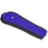 戶外旅行露營單人睡袋 野營保暖加厚羽絨睡袋(黑藍 黑紅)122