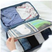 特大號手提雙層衣物收納包 卡通印花收納袋 行李箱桿配套包