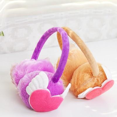 時尚仿兔毛冬季保暖耳罩耳朵防凍保護罩護耳罩 心型翅膀款(混賣)