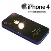 iphone4透明邊框保護套(藍色透明)