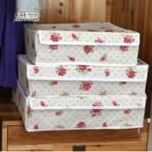 無紡布可折疊有蓋內衣收納盒三件套