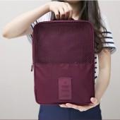 旅行收納袋整理包  旅游 行李箱防水帶網格鞋包鞋盒 塑膠商標