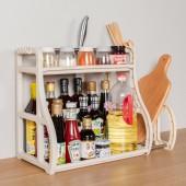 家用油鹽醬醋調味品調料架廚具收納架刀架砧板架廚房雙層置物架(帶筷籠+砧板架)