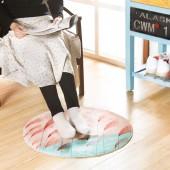 浴室簡約法蘭絨圓形地墊加厚防滑墊子臥室門口墊門口腳墊浴室地毯