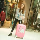 獨立印花卡通圖案彈力加厚耐磨行李箱套拉桿箱套旅行防塵罩保護套(XL碼)350