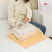 居家半透明提手包包收納袋兩件套立體掛袋衣柜櫥懸掛式整理袋防塵整理儲物袋(2個裝)小號40*43.5cm