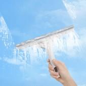擦窗戶神器玻璃搽洗刮子餐桌刮刀清潔工具刮水器雙面玻璃刮擦窗器(百潔布+刮條)
