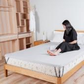 床單固定扣固定器防滑家用隱形卡扣床單夾子床墊防跑被子固定神器(4個裝)可調節 金屬+塑料頭 A款