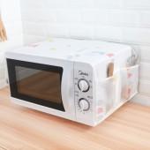 微波爐罩防塵罩廚房防油防水微波爐套口袋烤箱罩家用油簾蓋防污罩