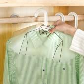 加厚半包式透明PVC衣服防塵罩 服裝店半身成人衣服掛袋 (20個裝)346