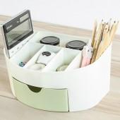 化妝品收納盒梳妝臺桌面收納架梳妝盒遙控器雜物收納盒