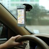 多功能車載手機導航支架汽車通用吸盤式手機座懶人手機架
