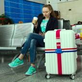 旅行托運密碼扣 行李箱捆綁帶 打包帶 滌綸帶(PVC盒)063