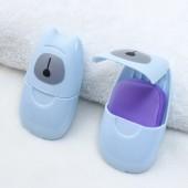 小熊旅行肥皂紙便攜式一次性香皂紙旅游迷你肥皂片兒童洗手片50片裝