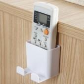 遙控收納架墻吸手機充電支架客廳臥室插頭耳機收納盒子壁掛式遙控收納盒帶掛鉤