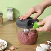 手動攪餡絞肉機家用輔食小型磨蒜蓉切辣椒料理機通用多功能拉式碎菜器