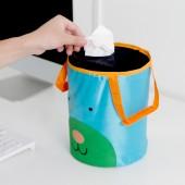 汽車用卡通折疊垃圾桶 車內收納桶 車載多功能桶(涉及專利 安排下架)