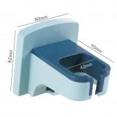 浴室免打孔置物架強力吸盤廁所電吹風掛架洗手間吹風機架子(掛鉤款)