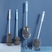 洗杯子神器長柄海綿洗杯刷奶瓶刷清潔刷長柄無死角小刷子廚房清潔工具(A417長款)