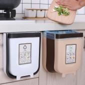 廚房垃圾桶家用懸掛分類廚余拉圾筒伸縮壁掛可折疊櫥柜門垃圾桶