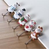 創意家居新款可愛熊掛鉤樹脂工藝品新房裝飾收納掛鉤掛架