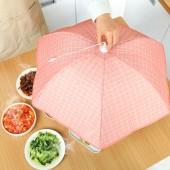 可折疊傘形保溫菜罩冬季飯菜罩剩菜罩餐桌罩食物家用保溫罩蓋菜罩