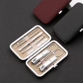 修剪指甲刀剪鉗家用修甲工具甲灰甲炎修腳刀死皮鉗不銹鋼指甲剪套裝(8件套)