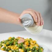透明玻璃調料瓶帶蓋雙開口調味罐家用調料罐四個裝廚房胡椒鹽罐150ml