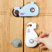 櫥柜門鯨魚兒童鎖多功能寶寶防夾手安全鎖嬰兒防護用品抽屜保護扣