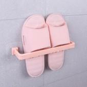 浴室門后式瀝水拖鞋架衛生間簡易壁掛鞋架掛式免打孔毛巾置物架