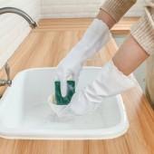 洗碗手套女家用防水耐用廚房多功能清潔手套刷碗洗碗洗衣服塑膠薄款橡膠手套RS-001